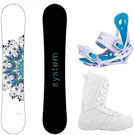 System 2020 Flite Snowboard w Mystic Bindings and Lux Boots Women s Complete Snowboard Package