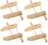 ATE Pro. USA 30143 Wood Handscrew Clamp, 10'' (4-(Pack))