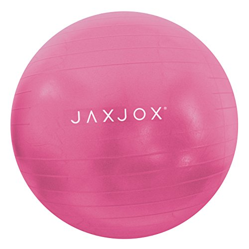 JAXJOX Balance Stability Gym/Swiss Ball 75cm (pump included), Pink