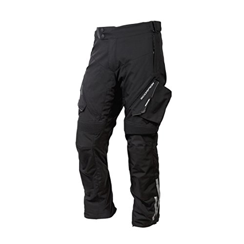 (ScorpionExo XDR Yosemite Men's Textile Adventure Touring Motorcycle Pants (Black, X-Large))