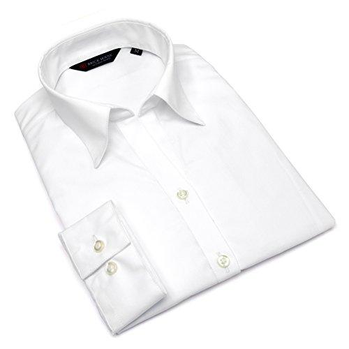 非互換つなぐいわゆるブリックハウス シャツ ブラウス 長袖 形態安定 スキッパー衿 透け防止 白無地 レディース ウィメンズ BL01X900AB14K1S-96 シロ XL