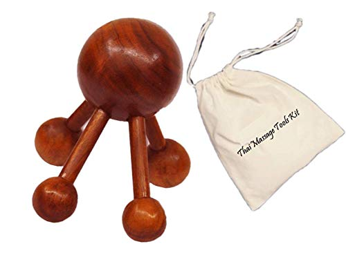 - Reflexology Thai Spider Massage Shoulder & Full Body Wooden Tool