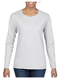 Gildan Womens Heavy Cotton Long Sleeve T-Shirt, 2-Pack
