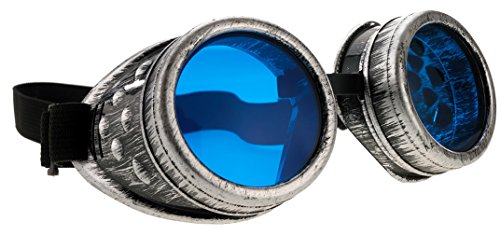 4 Lentes Vendido Gafas cibern azules Steampunk rqpUrF