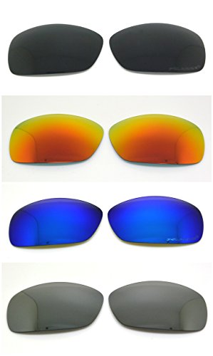 Set of 4 Polarized Replacement Lenses for Oakley Hijinx Sunglasses - Replacement Oakley Lens Hijinx