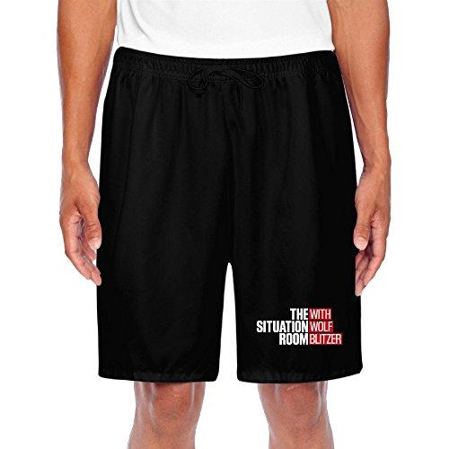 BENZIMM Men's With Wolf Blitzer Shorts Sweatpants