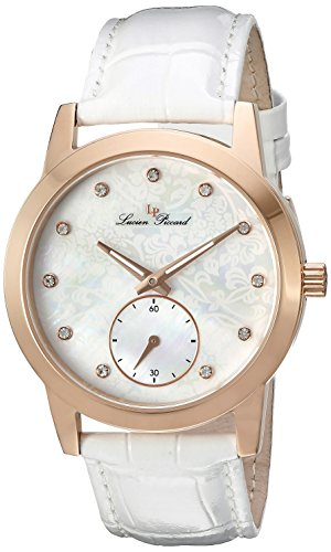 Swiss Legend Women's 'Noureddine' Quartz Stainless Steel and White Leather Casual Watch (Model: LP-40037-RG-02MOP-WHS)