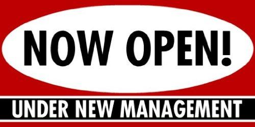 - 3x6 Vinyl Banner - Now Open New Management