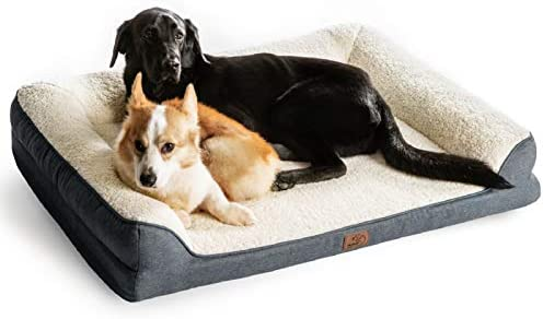 Amazon Com Bedsure Orthopedic Memory Foam Large Dog Bed Dog Sofa With Removable Washable Cover Waterproof Liner 7 Inches Height Couch Dog Beds For Large Dogs Up To 75 Lbs Pet Supplies