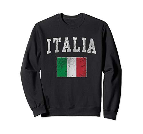 Vintage Italia Italian Flag Italy Italiano Sweatshirt