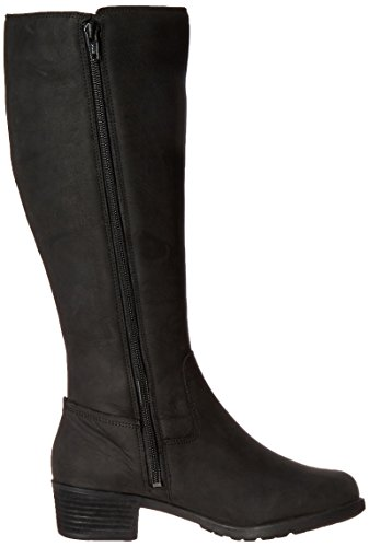 Hush Puppies Womens Polished Overton Riding Boot Black Wp Leather
