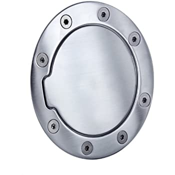 All Sales 6055BC Brushed Chrome Billet Aluminum Fuel Door