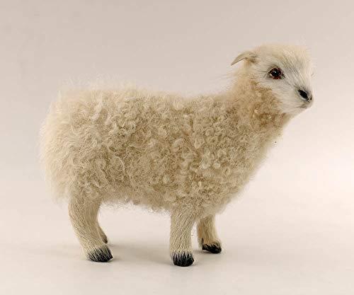 nanguawu White Standing Goat Lamb Miniature Animal Toy Kid from nanguawu