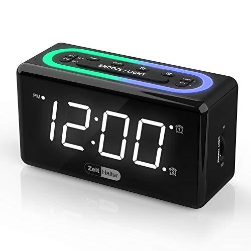 ZeitHalter Digital Alarm Clock for Bedrooms