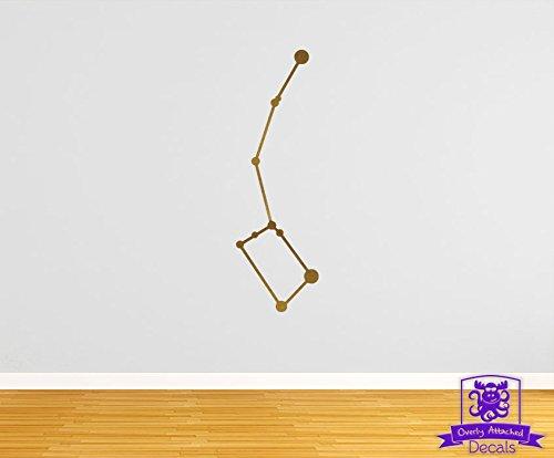 """Ursa Minor Littler Dipper Constellation 35"""" Wall Decal - Gold Metallic"""