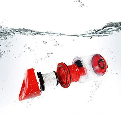YWXCQ Aspirateurs balais et balais électriques Aspirateur, aspirateur sans Sac (1200W, système de Filtration en 5 étapes, Rayon de Travail de 5,5M) Rouge aspirateur