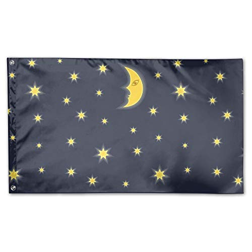 BINGOGING FLAG Decorative House Flags - Moon And Star Outdoo