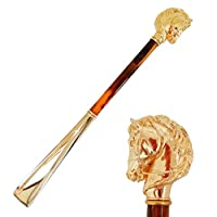 Shoehorn by Pasotti, Hand made shoehorn, Accessory by Pasotti, Gold shoehorn, Shoehorn with Golden Horse by Pasotti