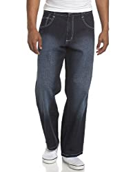 Southpole Men's Big & Tall Relaxed Fit Basic Sand Blasted Core Denim, Light Sand Blue, 46