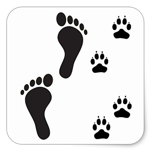 Amazon.com: Huellas de perro con impresión de pie humano ...
