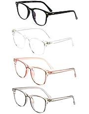 Blue Light Blocking Gaming Glasses Spectacles Anti Eyestrain Glasses Eyewear Retro Vision Care Anti Glare for PC Laptop Gamer Computer Reading