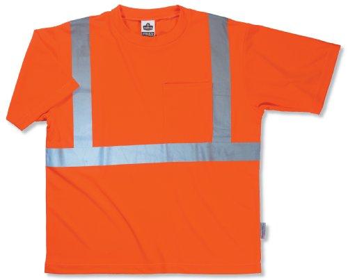 Ergodyne GloWear 8289 ANSI High Visibility Orange Reflective T-Shirt, X-Large