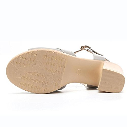 QL@YC Sandalen FüR Damen Sandalen Damen High Heel Sandaletten Damenschuhe Bequeme Sandalen , brown , 38