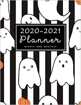 Halloween Calendar 2021 2020 2021 Weekly & Monthly Planner: 2 Year Calendar Schedule