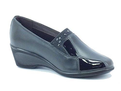 MELLUSO Women's K90257 Nero Loafer Flats Black mnJbkx2LTP