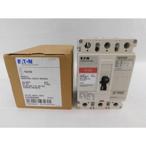 Cutler Hammer Fd - New Cutler-Hammer Eaton FD3150 Circuit Breaker 3 Pole 150A 600V FD Frame 35kA