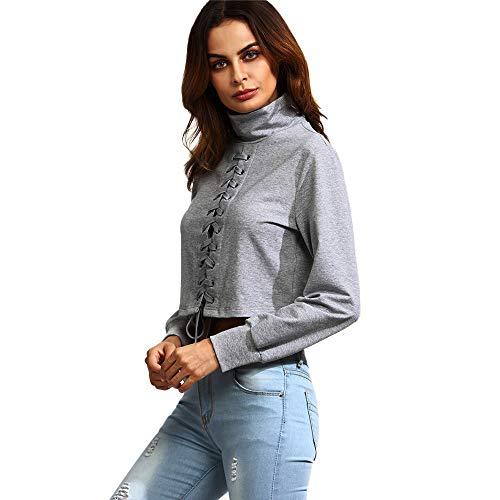 30% REDUZIERT TianWlio Langarmshirt Damen Bluse T Shirt Tops