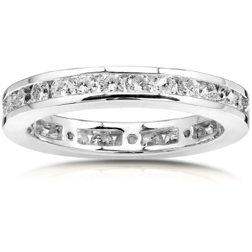 Diamond Eternity Wedding Band 1 carat (ctw) in 14K White Gold