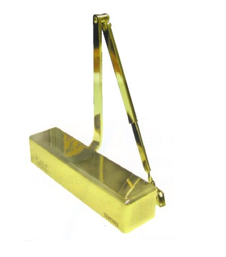 Brass Door Sweep - Sentinel 9016 - Medium Duty - ADA Certified - Grade 1 Hydraulic Door Closer, ADA Certified, Adjustable 1-6 Spring Tension w/ Back Check - US3 - Bright Brass