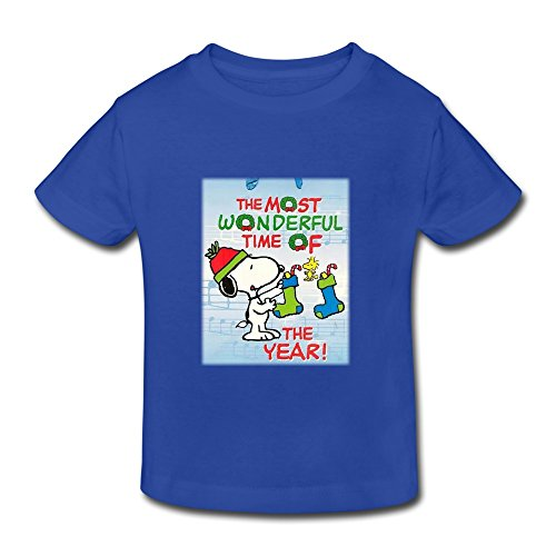 Price comparison product image YUTUO Kid's Christmas Snoopy Short Sleeve 2-6 Boys Girls T Shirt RoyalBlue 2 Toddler