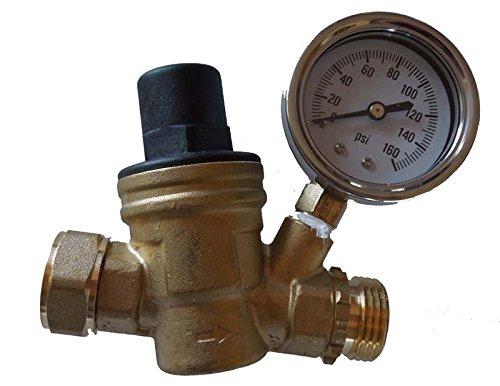 RV Brass Adjustable Lead-Free Water Pressure Regulator (Camper Water Pressure Regulator compare prices)