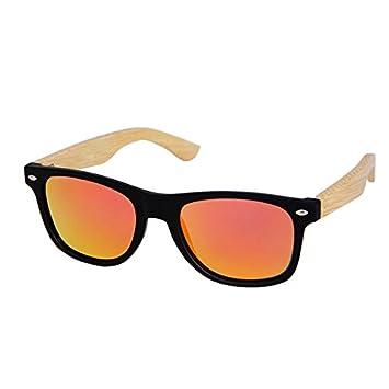 Limotai Gafas De Sollas Gafas De Sol De Bambú De Los Hombres ...