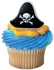 Pirate Hat Cupcake Rings - 24 ct