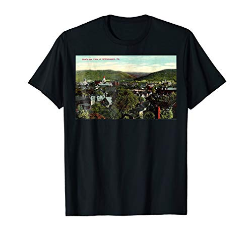 Postcard Birdseye View (Williamsport PA Bird's Eye View Postcard Graphic T-Shirt)