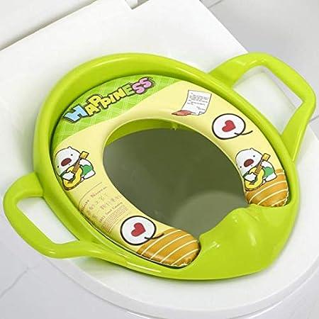 LAAT 1Pcs B/éb/é Si/ège de Toilette Avec Poign/ée de Coussin R/éducteur de Toilette de WC Ergonomique Pour Enfant Unisexe