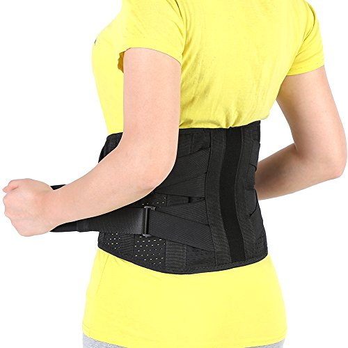 Adjustable Lumbar Support Belt Lower Back Brace Posture Corrector Waist Wrap for Sciatica Back Pain Relief Postpartum Abdomen Shaping for Heavy Lifting, Workout, Fitness, Women Men (L (Heavy Lifting Gear)