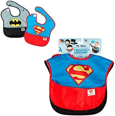 M MOLTO Pack 2 Baberos Superman y Batman - Liga de la Justicia ...