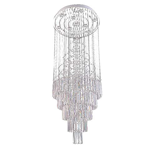 ZLXING LED Crystal Chandeliers for Living Room Glass Rod Ceiling Pendant Light, -