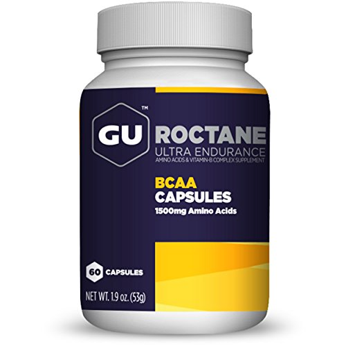 GU Energy Roctane Branch Chain Amino Acid and Vitamin B Exercise Recovery Capsules, 60-Count Bottle