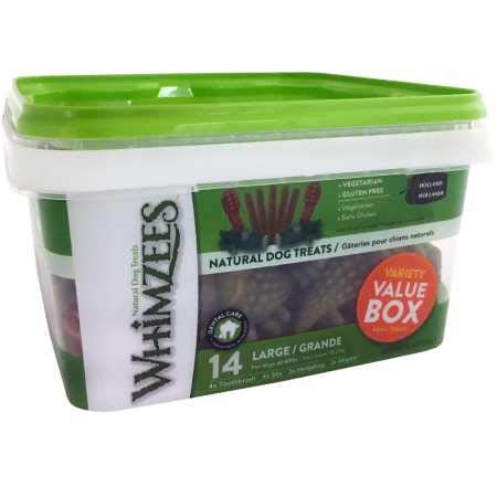Whimzees Variety Value Box Large NET WT 29.6 OZ (14 pieces)
