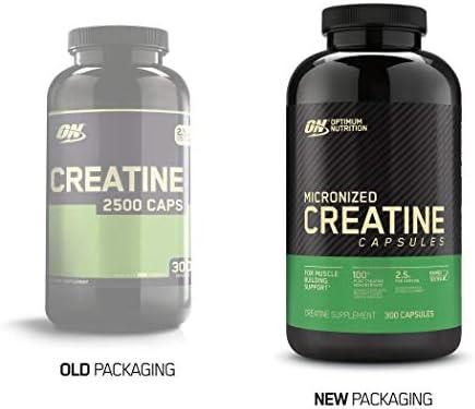 Optimum Nutrition Micronized Creatine Monohydrate Capsules, Keto Friendly, 2500mg, 300 Capsules (Packaging May Vary) 3
