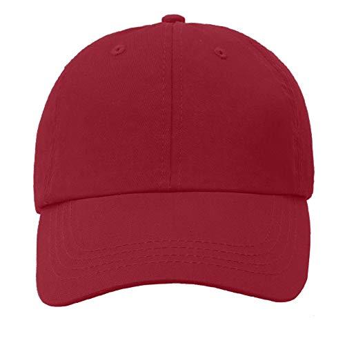 (Yamanman Plain Ball Cap Men Women Baseball Caps Adjustable Cotton Hat Washed Twill Plain Cap Low Profile for Travel Climbing Golf(Burgundy))