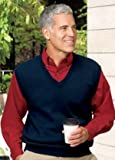 Big Mens Signature Fine-Gauge V-Neck Sweater Vest by Port Authority® (Big & Tall and Regular Sizes)