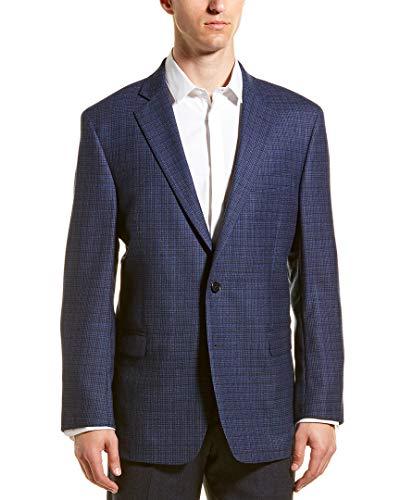 Brooks Brothers Mens Regent Fit Wool Sport Coat, 42L, Blue