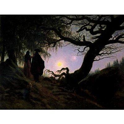 Caspar David Friedrich (Men and women considering the moon) Art Poster Print - 13x19