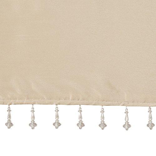 (Emilia Faux Silk Valances for Windows with Beads , Elegant window valance   , 50